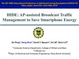 HIDE:   AP-assisted Broadcast