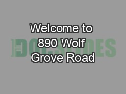 Welcome to 890 Wolf Grove Road