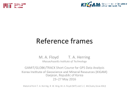 Reference  frames M. A.