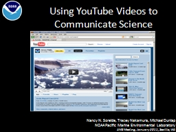 Using YouTube Videos to Communicate Science PowerPoint PPT Presentation