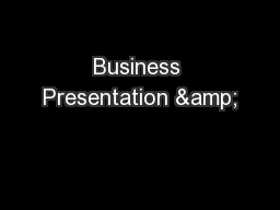 Business Presentation &