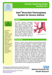 Alair Bronchial Thermoplasty System for Severe Asthma