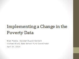 Implementing a Change in the Poverty Data