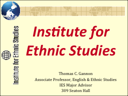 Institute for Ethnic Studies