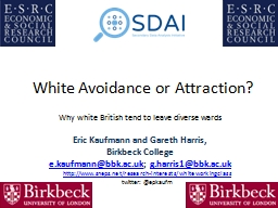 White Avoidance or Attraction? PowerPoint PPT Presentation