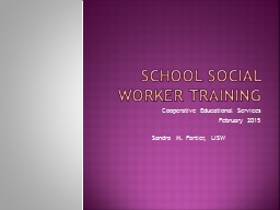 School Social Worker Training PowerPoint PPT Presentation