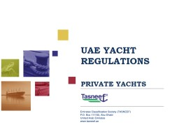 UAE YACHT  REGULATIONS PRIVATE YACHTS