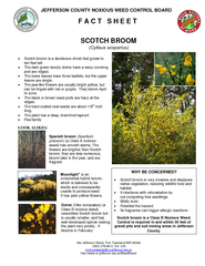 JEFFERSON COUNTY NOXIOUS WEED CONTROL BOARD F A C T S