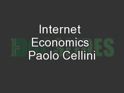 Internet Economics Paolo Cellini