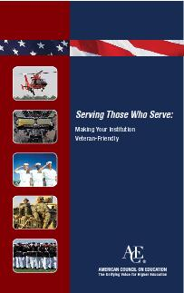 Serving Those Who Serve Making Your Institution VeteranFriendly Do you have more examples of good practice Contact ACEs project Serving Those Who Serve Higher Education and Americas Veterans at STWSac