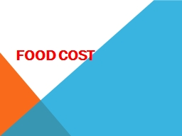 Food Cost Food Cost Definition