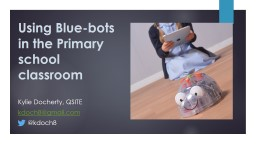 Using  Blue-bots in the Primary