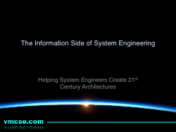 The Information Side of System Engineering