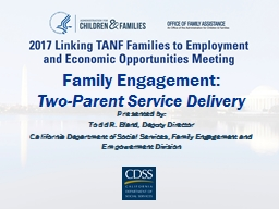 Family Engagement: Two-Parent Service Delivery PowerPoint PPT Presentation
