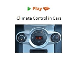 Climate Control in Cars Introduction