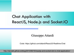 Chat Application  with ReactJS