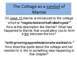 The Cottage as a  s ymbol