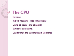 The CPU Revision  Typical
