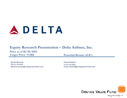 Equity Research Presentation – Delta Airlines, Inc.