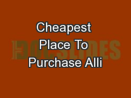 Cheapest Place To Purchase Alli
