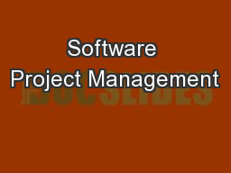 Software Project Management PowerPoint PPT Presentation