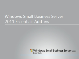 Windows Small  Business Server