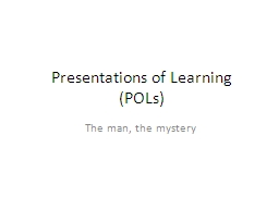 Presentations of Learning
