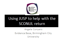 Using JUSP to help with the SCONUL return