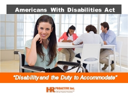 """Disability and the Duty to Accommodate"""
