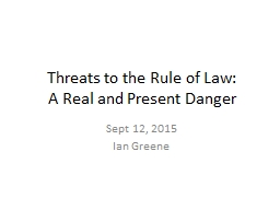 Threats to the Rule of Law: