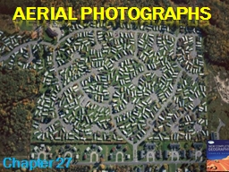 Aerial Photographs Chapter 27
