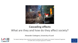 Cascading effects  What are they PowerPoint PPT Presentation