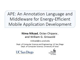 APE: An Annotation Language and Middleware for Energy-Efficient Mobile Application Development