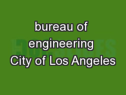 bureau of engineering City of Los Angeles