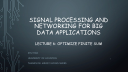 Signal processing and Networking for Big Data
