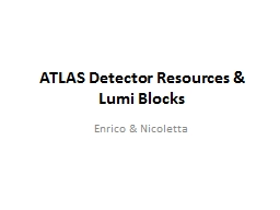 ATLAS Detector Resources & PowerPoint PPT Presentation