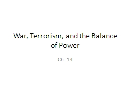 War, Terrorism, and the Balance of Power PowerPoint PPT Presentation