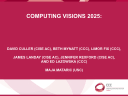 Computing Visions 2025: PowerPoint PPT Presentation