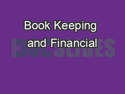 Book Keeping and Financial