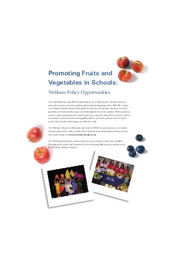 The Child Nutrition and WIC Reauthorization Act of  requires all school districts across the country to develop wellness policies by the beginning of the  school year