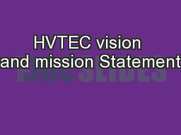 HVTEC vision and mission Statement