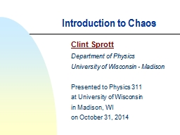 Introduction to Chaos Clint