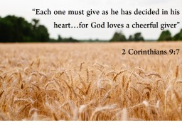 �Each one must give as he has decided in his