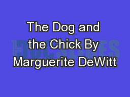 The Dog and the Chick By Marguerite DeWitt