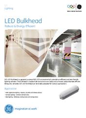 GEs LED Bulkhead is a general purpose IP LED luminaire