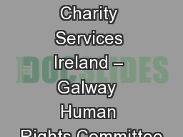 Brothers of Charity Services Ireland – Galway  Human Rights Committee