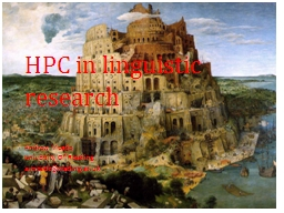 HPC in linguistic research