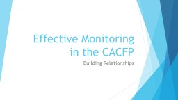 Effective Monitoring in the CACFP