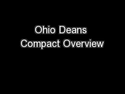 Ohio Deans Compact Overview