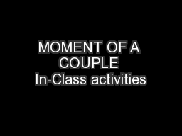 MOMENT OF A COUPLE In-Class activities